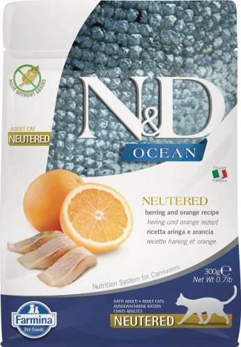 N&D Ocean Cat Herring and Orange Neutered Adult